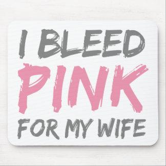 私はピンクの乳癌の妻を出血させます マウスパッド