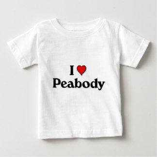 私はピーボディを愛します ベビーTシャツ