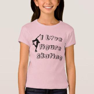 私はフィギュアスケートの女の子のTシャツを愛します Tシャツ