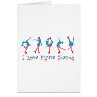 私はフィギュアスケート-さくらんぼの果実--を愛します グリーティングカード