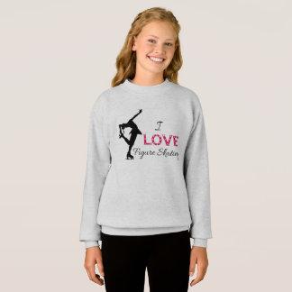 私はフィギュアスケート、女の子のスエットシャツを愛します スウェットシャツ