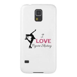 私はフィギュアスケート、雪片及びスケート選手を愛します GALAXY S5 ケース
