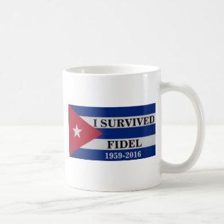 私はフィデルを生き延びました コーヒーマグカップ