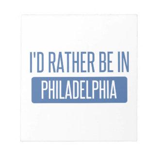 私はフィラデルヒィアにむしろいます ノートパッド