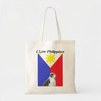 私はフィリピンのトートバックを愛します トートバッグ
