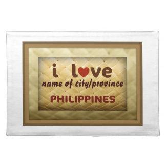 私はフィリピンのランチョンマットを愛します ランチョンマット