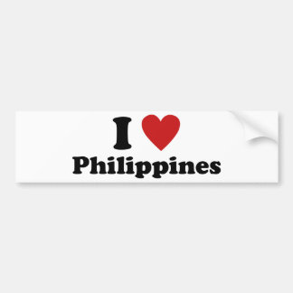 私はフィリピンを愛します バンパーステッカー