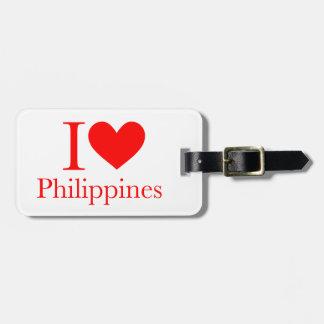私はフィリピンを愛します ラゲッジタグ