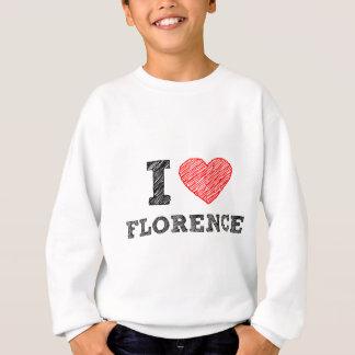 私はフィレンツェを愛します スウェットシャツ