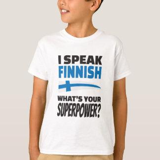 私はフィンランドを話します-あなたの超出力は何ですか。 Tシャツ