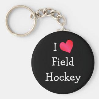 私はフィールドホッケーを愛します キーホルダー