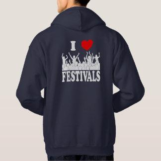 私はフェスティバルを愛します(白い) パーカ