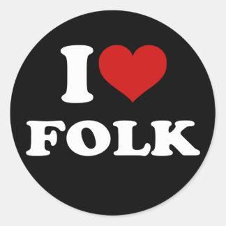 私はフォークを愛します ラウンドシール