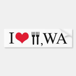 私はフォーク、WAを愛します バンパーステッカー