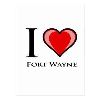 私はフォートウェインを愛します ポストカード