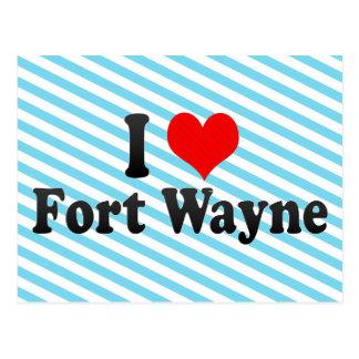 私はフォートウェイン、米国を愛します ポストカード