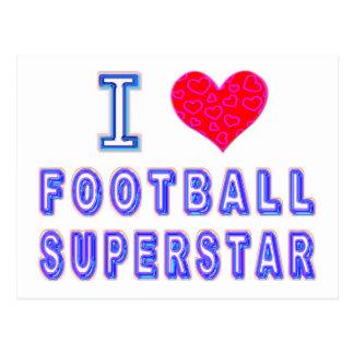 私はフットボールのスーパースターを愛します ポストカード