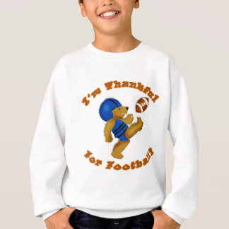 私はフットボールの感謝祭のデザインのために感謝しています スウェットシャツ