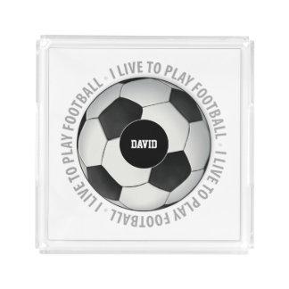 私はフットボール|のスポーツのギフトを遊ぶために住んでいます アクリルトレー