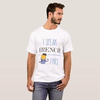 私はフライドポテトを話します Tシャツ
