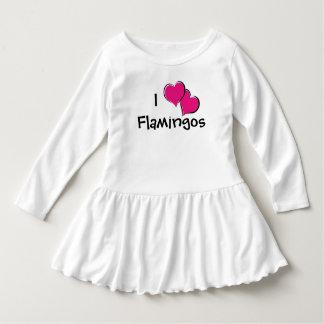 私はフラミンゴの幼児の服を愛します ドレス