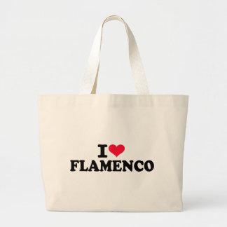 私はフラメンコを愛します ラージトートバッグ
