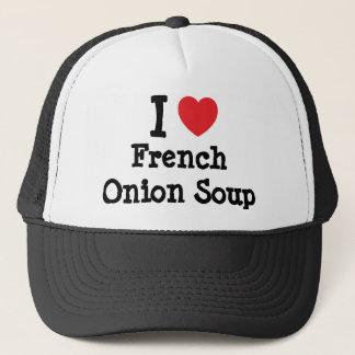 私はフランスのなタマネギスープハートのTシャツを愛します キャップ