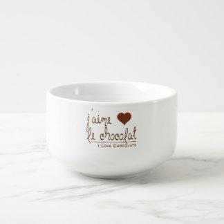 私はフランスののチョコレートを、愛します スープマグ