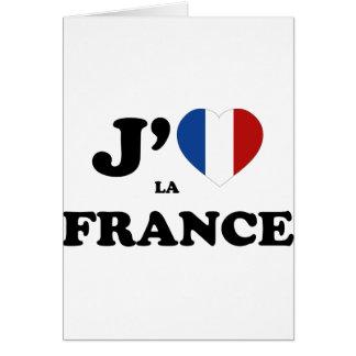 私はフランスを愛します カード