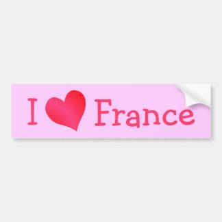 私はフランスを愛します バンパーステッカー