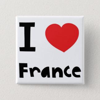 私はフランスを愛します 缶バッジ