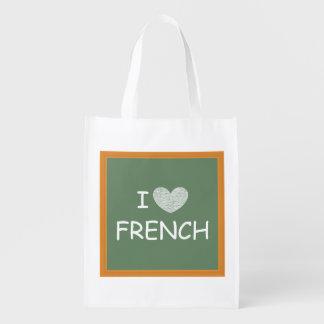 私はフランス語を愛します リユーザブルバッグ
