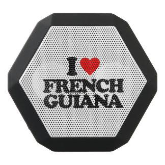 私はフランス領ギニアを愛します ブラックBluetoothスピーカー