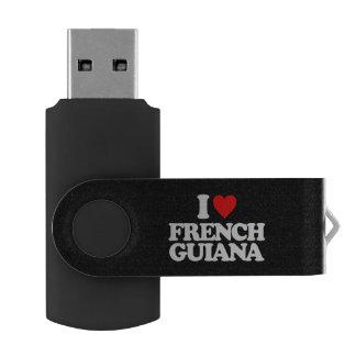 私はフランス領ギニアを愛します USBフラッシュドライブ
