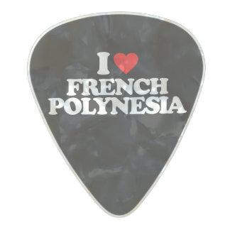 私はフランス領ポリネシアを愛します パールセルロイド ギターピック