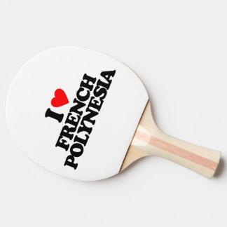 私はフランス領ポリネシアを愛します 卓球ラケット