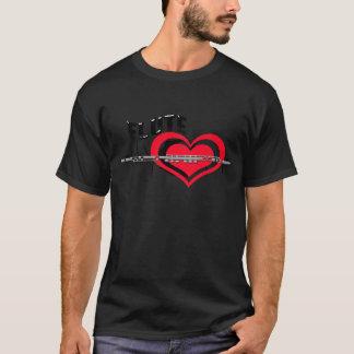 私はフルートのハートを愛します Tシャツ