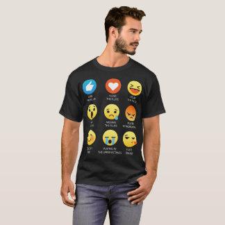 私はフルートのEmojiの顔文字のグラフィック・デザインを愛します Tシャツ