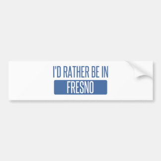 私はフレズノにむしろいます バンパーステッカー