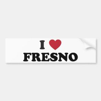私はフレズノカリフォルニアを愛します バンパーステッカー