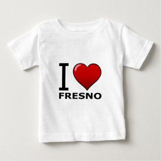 私はフレズノ、カリフォルニア-カリフォルニア--を愛します ベビーTシャツ