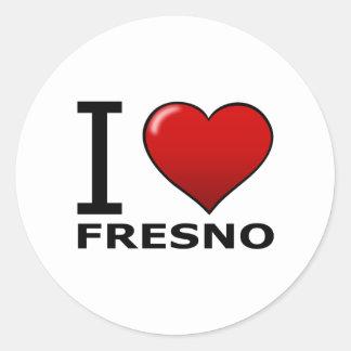 私はフレズノ、カリフォルニア-カリフォルニア--を愛します ラウンドシール