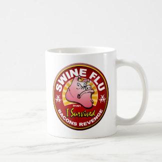 私はブタのインフルエンザ- H1N1 --を生き延びました コーヒーマグカップ