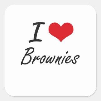 私はブラウニーの芸術的なデザインを愛します スクエアシール