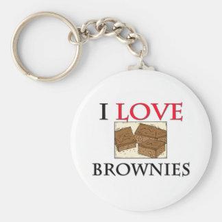 私はブラウニーを愛します キーホルダー