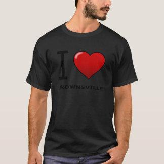 私はブラウンズヴィル、TX -テキサス州--を愛します Tシャツ