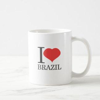 私はブラジルを愛します コーヒーマグカップ