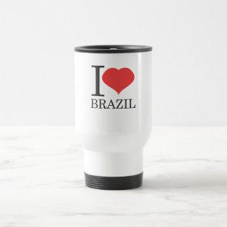 私はブラジルを愛します トラベルマグ