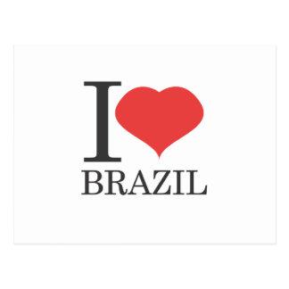 私はブラジルを愛します ポストカード