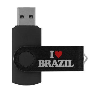 私はブラジルを愛します USBフラッシュドライブ